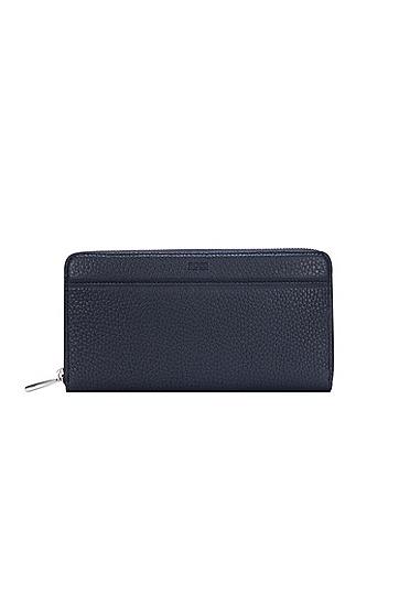 男士纹理质感皮革钱包,  419_海军蓝色