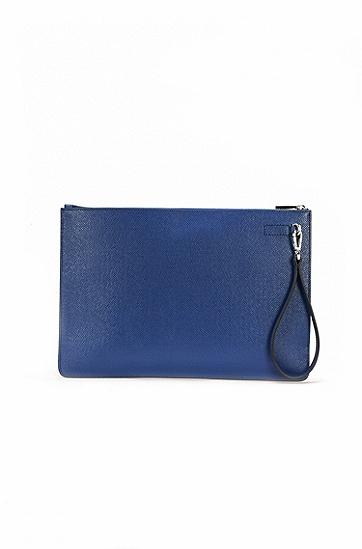 饰有可拆卸手柄的皮革文件夹:'Signature_Folio ZipH',  430_亮蓝色