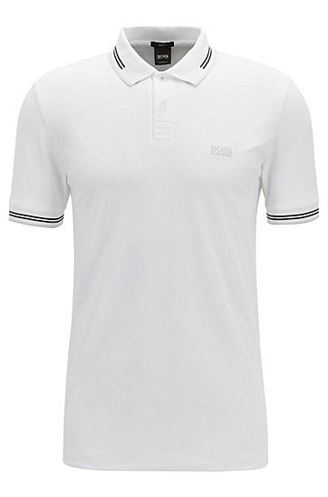 修身版棉质POLO衫,  108_天然色