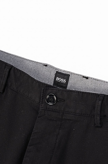 密实弹力华达呢常规版短裤,  001_黑色