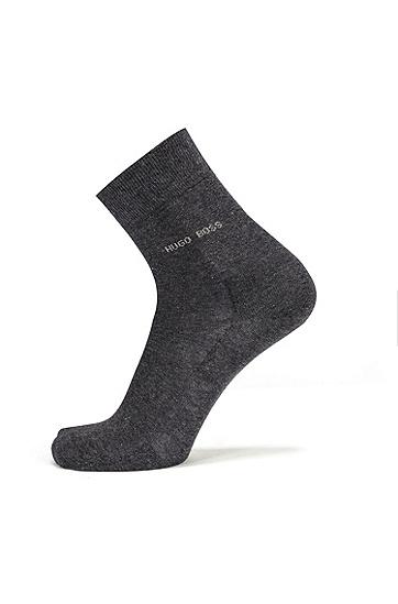 轻质精梳棉短袜,  012_炭黑色