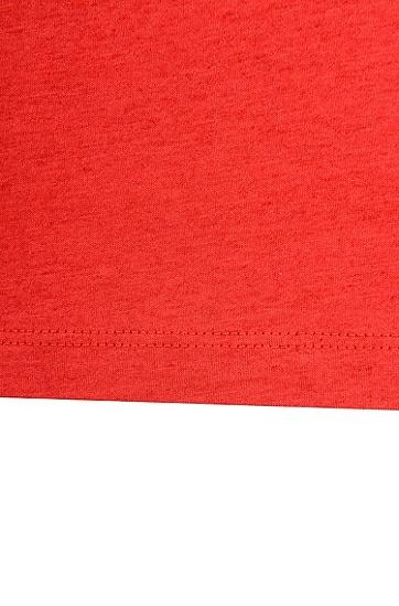 棉质混纺长袖T恤,  629_亮红色