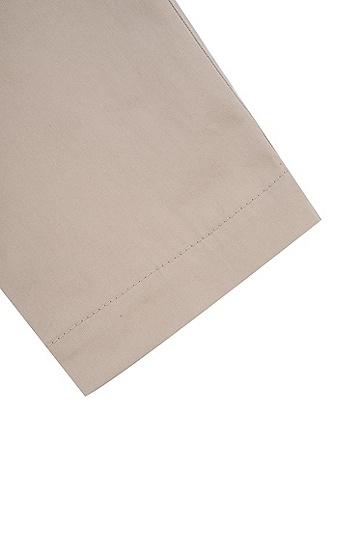 修身版弹力棉长裤,  270_浅米色