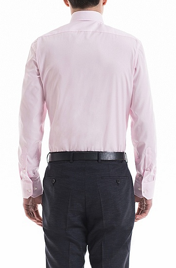 常规版易熨烫棉衬衫,  680_浅粉色