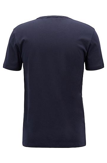修身版天鹅绒logo棉质T恤,  480_淡蓝色