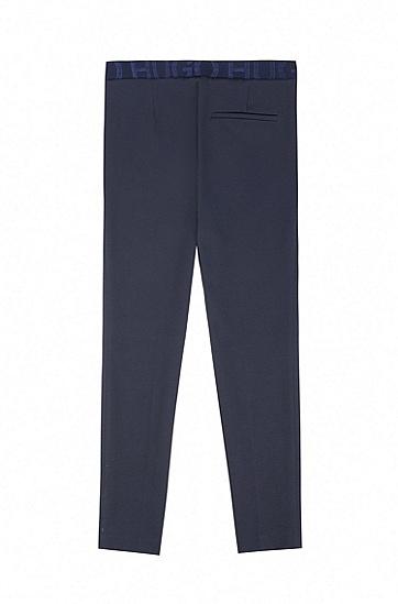 修身版棉质混纺长裤,  464_Open Blue