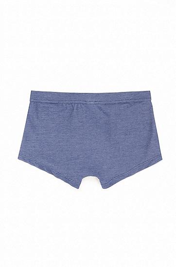 牛仔布效果提花内衣短裤,  420_中蓝色