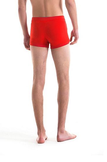 胶化logo带弹力中腰运动短裤,  620_亮红色