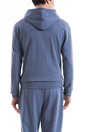 双面棉质混纺面料家居便服帽衫,  401_暗蓝色