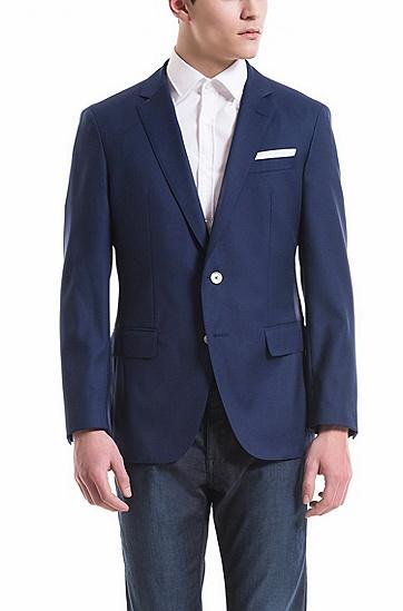 修身版部分里料羊毛轻薄西装外套,  473_淡蓝色