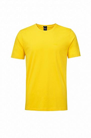 水手领色织单面平纹单面针织布T恤,  740_浅黄色
