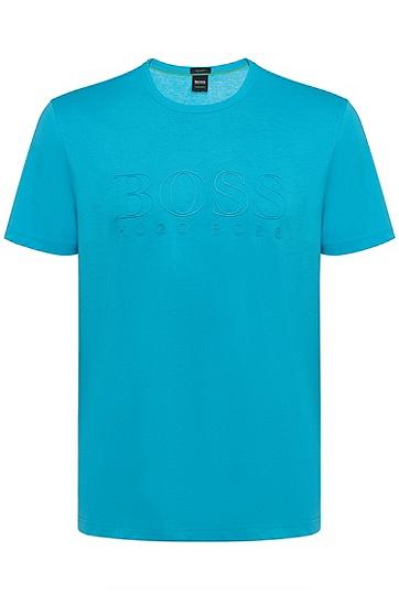 男款休闲logo短袖T恤,  409_暗蓝色