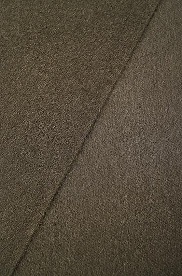 饰以流苏下摆的意大利制造Tailored系列羊绒围巾,  342_淡绿色
