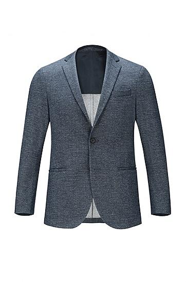 男士棉质混纺修身西服,  473_淡蓝色