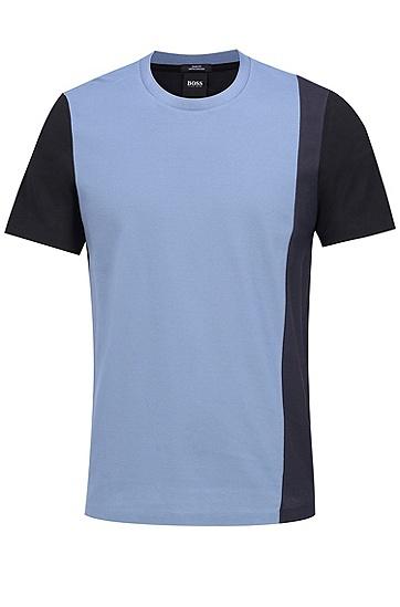 男士商务休闲修身版棉质短袖T恤,  480_淡蓝色