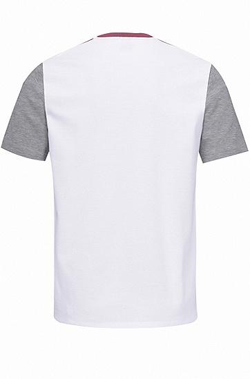 男士商务休闲修身版棉质短袖T恤,  560_淡紫色