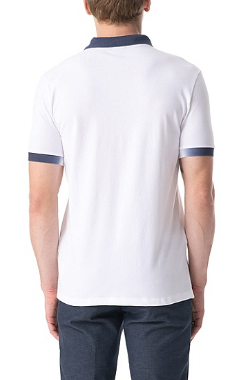 男士舒适休闲polo衫,  100_白色