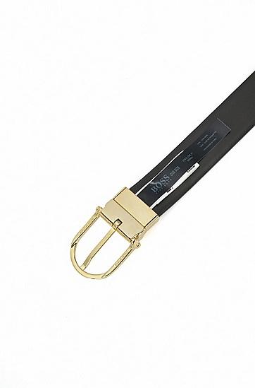 男士商务休闲针扣腰带,  002_黑色