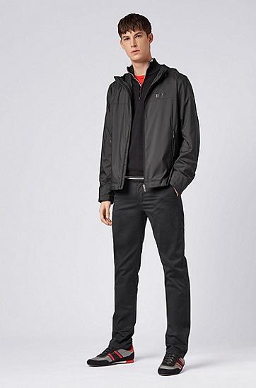男士运动休闲常规版混纺长袖针织衫,  001_黑色