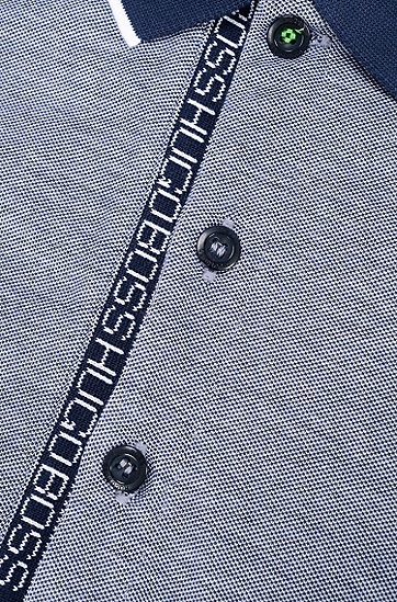 男士运动休闲修身版棉质长袖Polo衫,  410_海军蓝色