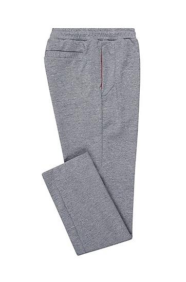 修身版反光细节平纹单面针织布长裤,  415_海军蓝色