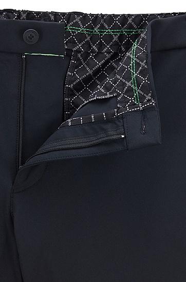 修身版防泼水弹力面料长裤,  001_黑色