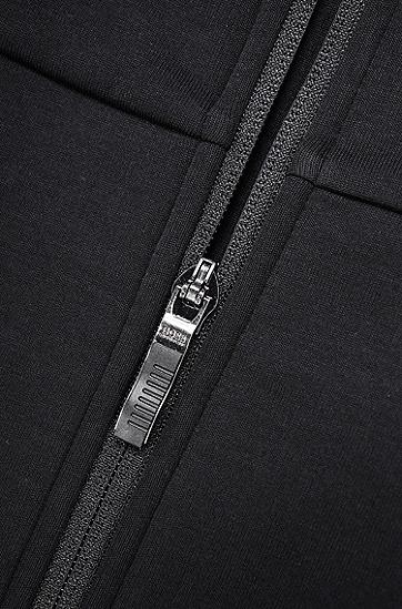男士运动休闲修身立领拉链卫衣运动衫,  001_黑色