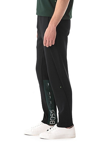 男士运动休闲针织长裤,  001_黑色