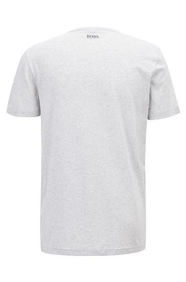 男士棉质字母LOGO短袖T恤,  057_浅灰色