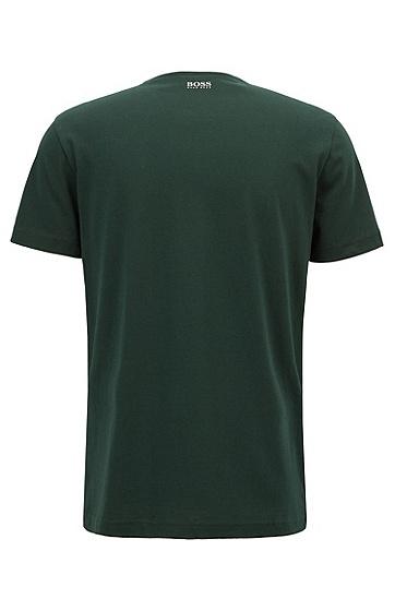 男士LOGO印花短袖T恤,  348_淡绿色