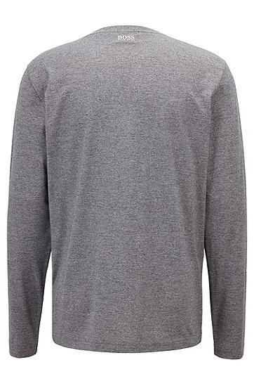 时尚都市男士长袖T恤,  005_黑色