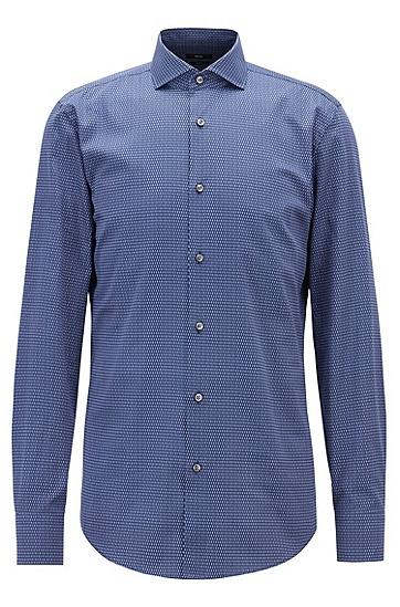男士商务休闲衬衫,  420_中蓝色