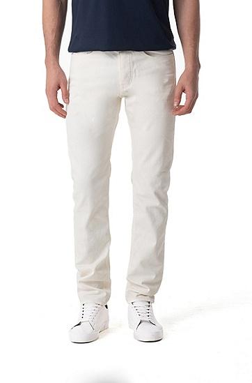 男士休闲纯色牛仔裤,  120_淡白色