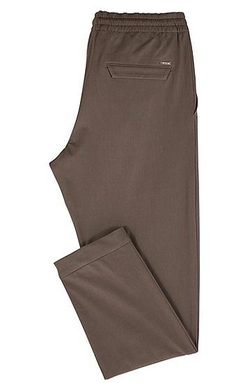 休闲版轻质意大利弹力棉斜纹棉布裤,  063_淡灰色