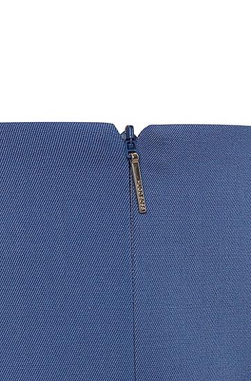 女士时尚休闲商务中长裙,  434_亮蓝色