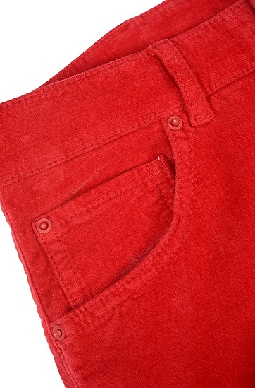 女士休闲棉质纯色长裤,  684_浅粉色