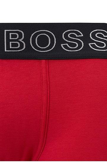 饰有logo腰带和人类工学接缝的直筒剪裁内裤,  622_亮红色