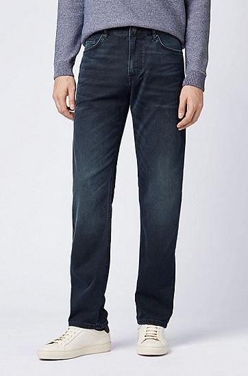男士商务休闲休闲版中腰牛仔裤,  415_海军蓝色