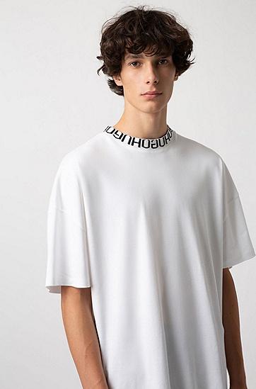 男士休闲印花T恤,  100_白色