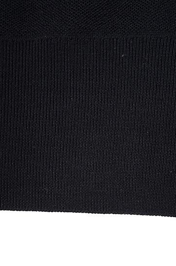Jeremyville联名款女士羊毛针织衫,  001_黑色