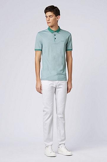 男士时尚休闲修身裁剪polo衫,  351_淡绿色