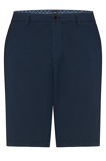 男士时尚商务修身短裤西裤,  410_海军蓝色