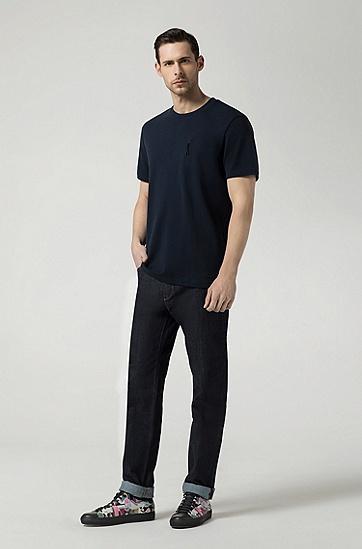 男士时尚休闲短袖T恤,  404_暗蓝色