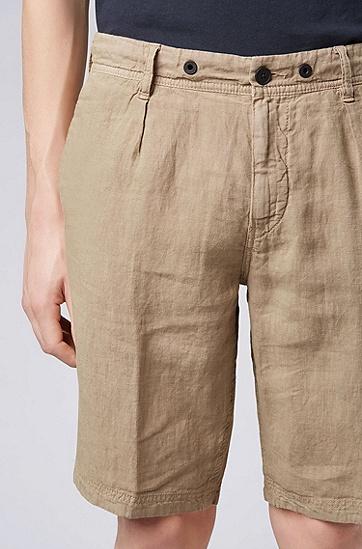 男士时尚休闲短裤,  263_中米色