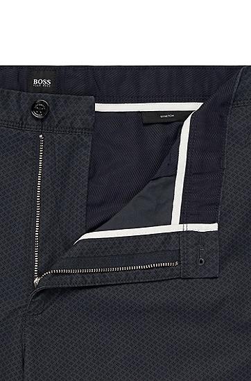 男士时尚商务修身西裤,  402_暗蓝色