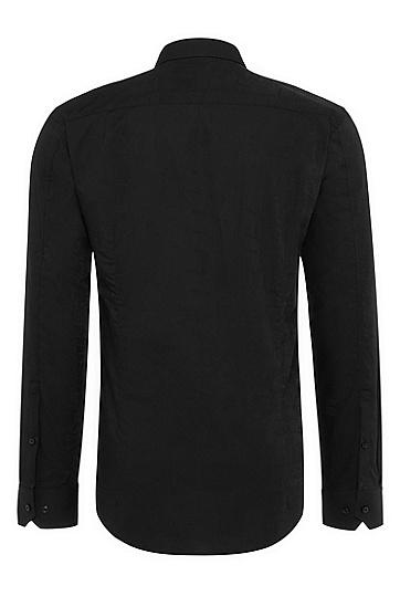 男士时尚商务休闲修身衬衫,  001_黑色