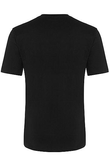 男士时尚休闲商务短袖T,  001_黑色