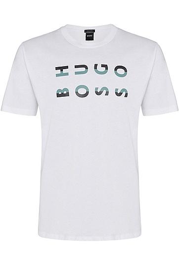 男士时尚休闲商务短袖T,  100_白色