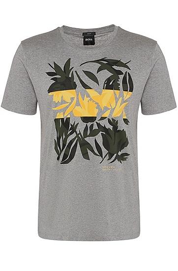 男士藏蓝色商务休闲修身短袖T恤,  072_淡灰色