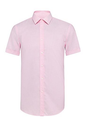 男士商务休闲短袖衬衫,  660_中粉色